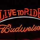 "Brand New BUDWEISER Live to Ride enjoy Beer Neon Light Sign 15""x 10"""