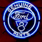 "Brand New FORD Genuine Ford V8 Parts Auto Neon Light Sign 16""x16"" [High Quality]"