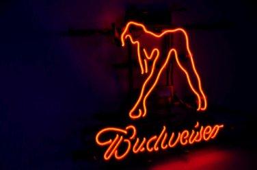 "Brand New Budweiser Sex Girls Beer Bar Real Glass Tube Neon Light Sign 16""x15"" [High Quality]"