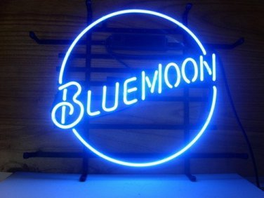 "Brand New Blue Moon Beer Bar Neon Light Sign 16"" x16"" [High Quality]"