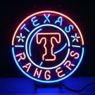 "Brand New MLB Texas Rangers Baseball Neon Light Sign 16"" x16"" [High Quality]"
