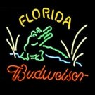 "New Budweiser Florida Logo Beer Bar Neon Light Sign 16""x15"" [High Quality]"