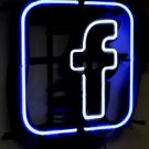 "Brand New Facebook Logo Beer Bar Pub Neon Light Sign 16""x 16"" [High Quality]"