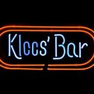 "Brand New Kloos' Logo Pub Display Store Beer Bar Neon Light Sign 18""x 16"""
