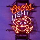 "Brand New Coors Light Crab Logo Beer Bar Pub Neon Light Sign 17""x 15"" [High Quality]"