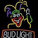 "Brand New Clown Man Logo Bud Light Beer Bar Neon Light Sign 18""x 16"""
