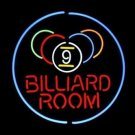 "Nine Ball Snooker Billiards Pool Room Beer Neon Light Sign 18""x 16"" [High Quality]"