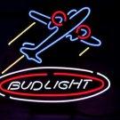 "Bud Light Airplane Plane Logo Beer Bar Pub Neon Light Sign 16""x 15"" [High Quality]"