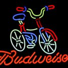 "Bicycle Bike Budweiser Beer Real Glass Tube Neon Light Sign 16""x 15""[High Quality]"