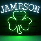 "New Jameson Irish Whiskey Shamrock Beer Bar Neon Light Sign 18""x 16"" [High Quality]"
