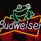 "New Budweiser Frog enjoy Beer Neon Light Sign 16""x 14"" [High Quality]"