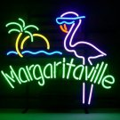 "Brand New Jimmy Buffett Margaritaville Paradise Pink Flamingo Neon Sign 18""x 16"" High Quality"