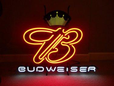 "Brand New JBUDWEISER King Beer Bar Pab Neon Light Sign 18""x 16"" [High Quality]"