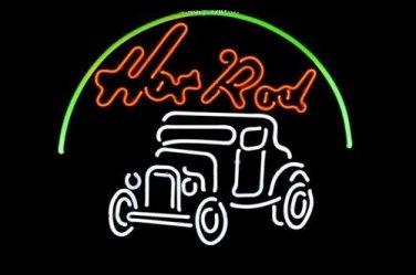 "Brand New Hot Rod Hotrods Logo Auto Car Dealer Beer Bar Neon Light Sign 16""x 14"" [High Quality]"