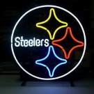 "Brand New Budweiser NFL Pittsburgh Steelers Neon Sign 16""x 13"" [High Quality]"