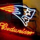 "Brand New NFL Budweiser England Patroits Beer Bar Pub Neon Light Sign 16""x 14"" [High Quality]"
