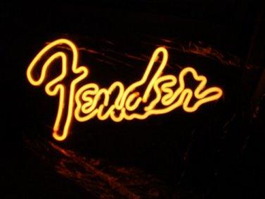 "Brand New FENDER FMIC Beer Bar Neon Light Pub Sign 15""x10"" [High Quality]"