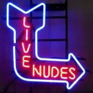 "Brand New Live Nudes Sexy Girls Beer Bar Neon Light Sign 16"" x12"" [High Quality]"