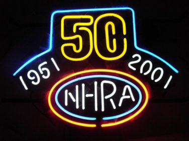 "Brand New NHRA 50 Years Drag Racing Beer Bar Neon Sign 16""x 14"" [High Quality]"