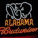 "Brand New Budweiser Alabama Beer Bar Neon Light Sign 16""x 14"" [High Quality]"