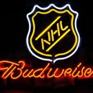 "Brand New NHL Logo Budweiser Beer Bar Neon Light Sign 17""x15"" [High Quality]"