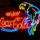"Brand New Coca Cola Coke Parrot Beer Bar Neon Light Sign 18""x 15"" [High Quality]"