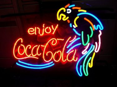 """Brand New Coca Cola Coke Parrot Beer Bar Neon Light Sign 18""""x 15"""" [High Quality]"""