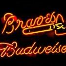"Brand New MLB Budweiser Atlanta Braves Beer Bar Pub Neon Light Sign 17""x 15"" [High Quality]"