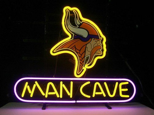 "Brand New Minnesota Vikings Man Cave NFL Football Beer Neon Light Sign 18""x 16"" [High Quality]"
