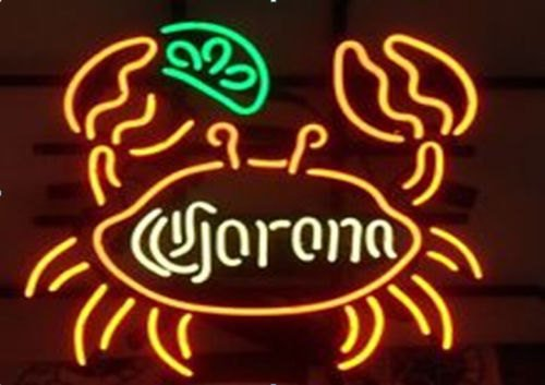 "Brand New Corona Big Crab Beer Neon Light Sign 18""x 15"" [High Quality]"
