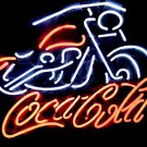 "Brand New Coca Cola Biker Motorcycle Neon Light Sign 17""x 15"" [High Quality]"
