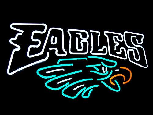 "Brand New Philadelphia Eagles Neon Light Sign 16""x 13"" [High Quality]"