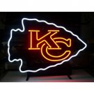 "Brand New Kansas City KC Chiefs NFL Football Beer Bar Neon Light Sign 16""x 13"" [High Quality]"