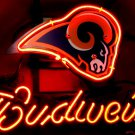 "Brand New Budweiser NFL Saint Louis Rams Neon Light Sign 13""x 9"" [High Quality]"
