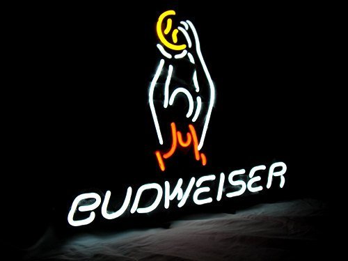 "Brand New Budweiser Basketball Neon Light Sign 16""x 14"" [High Quality]"