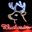 """Brand New Budweiser Deer Beer Neon Light Sign 16""""x15"""" [High Quality]"""