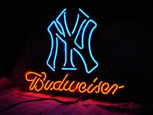 "Brand New Budweiser MLB New York Yankees Beer Neon Light Sign 16""x 14"" [High Quality]"