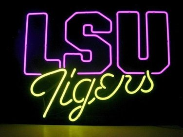 "Brand New LSU Tigers Sports Neon Light Sign 18""x 16"" [High Quality]"