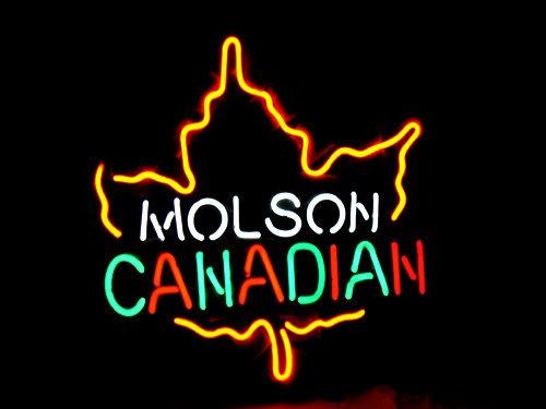 "Brand New Molson CANADIAN Enjoy Beer Bar Neon Light Sign 16""x 14"" [High Quality]"