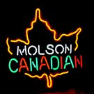 "Brand New Molson CANADIAN Enjoy Beer Bar Neon Light Sign 16""x 14"" [High Quality]"