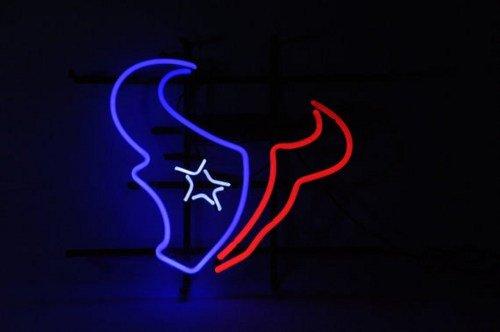 "Brand New NFL Houston Texans Beer Bar Pub Neon Light Sign 17""x15""[High Quality]"
