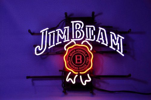 "Brand New Jim Beam Distillery 1795 Logo Neon Light Sign 17""x 14"" [High Quality]"