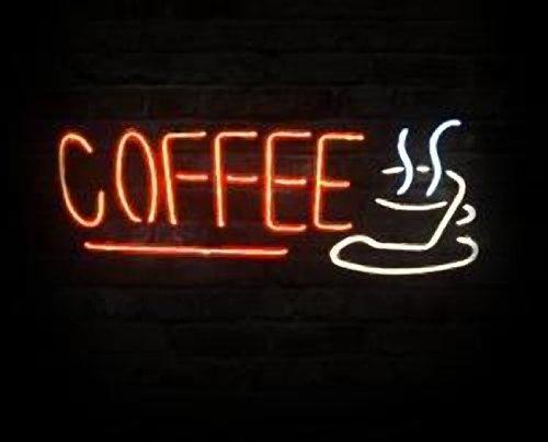 "Brand New Coffee Logo Cup Bar Neon Light Sign 18""x 14"" [High Quality]"