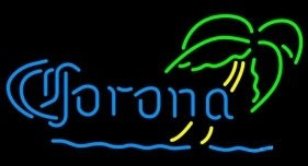 "Brand New CORONA Palm Tree Seaside Beer Neon Light Sign 16""x 14"" [High Quality]"