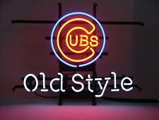 "Brand New MLB Classic Old Style Chicago Cubs Beer Bar Neon Light Sign 17""x 15"" [High Quality]"