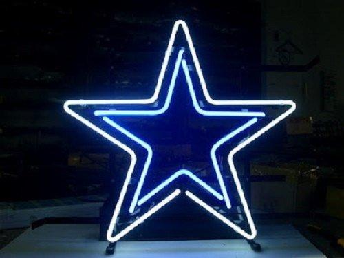 "Brand New NFL Dallas Cowboys Logo Football Beer Bar Neon Light Sign 16""x 16"" [High Quality]"