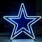 "Brand New NFL Dallas Cowboys Logo Football Beer Bar Neon Light Sign 16""x 16"" [High Quality]"