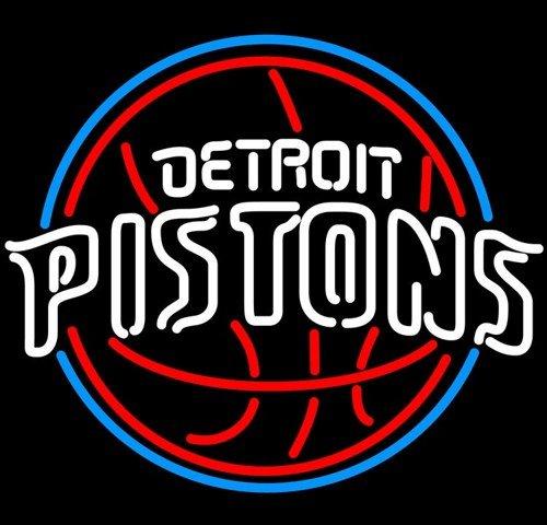 "Brand New NBA Detroit Pistons Basketball Beer Bar Neon Light Sign 16""x 14"" [High Quality]"