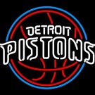 "Brand New NBA Detroit Pistons Basketball Beer Bar Neon Light Sign 16""x 14"" [High Quality]"