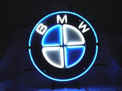 "Brand New BMW Motor Car Racing Neon Light Sign 16""x 16"" [High Quality]"